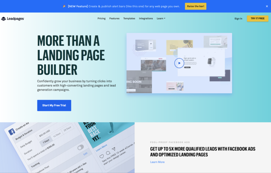 Support Cost Leadpages